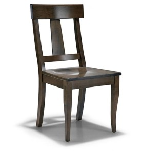 Wood chair with center spine