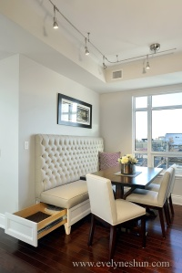 Built in Banquette with storage