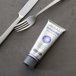Maas Polish is FANTASTIC for cleaning metal, silverware etc. I've  been using it for years...