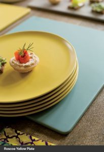 Yellow plates from Crate and Barrel are an easy way to add yellow into your daily routine.
