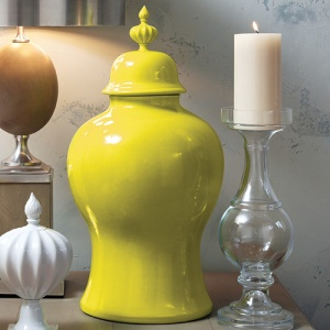 What a strong punctuation you can create with this yellow vase from Gobal Views