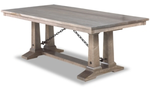 This table is FANTASTIC...it takes all the elements of rustic and pumps up the sophistication factor.