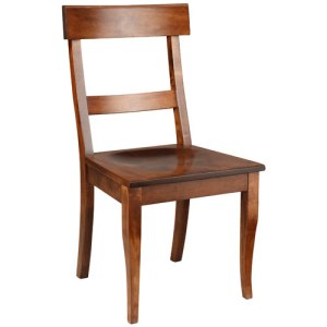 This chair has the lines which coordinate with the city rustic look perfectly..chunky and simply styled.