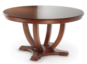 This table is GORGEOUS!! Sassy Traditional, like your Grandma's table with Tabasco! It is perfect for any space. you can add a very traditional chair or a simple contemporary to express yourself accordingly. This one is an investment... like a fabulous LBD ( little black dress)