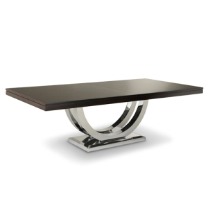 I love this table...it's sleek, sexy and so sophisticated...the 3 s's. I've used this table in a Client's city condo , it is a piece of art on its own.
