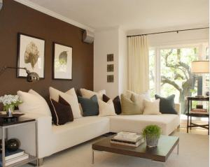 Use Paint to create an accent wall. Paint a colour which will compliment the interior and pull the look together.