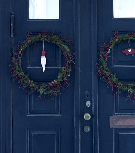 A Navy front door is classic, timeless as well as fresh for today's styles